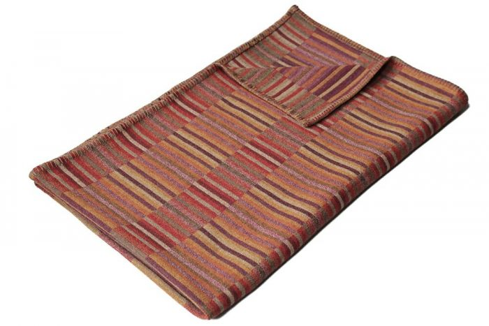 Accent Throw Warm Red Corn Yellow and Deep Plum Top