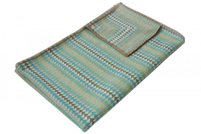 Cozy Throw in Bright and Happy Turquoise
