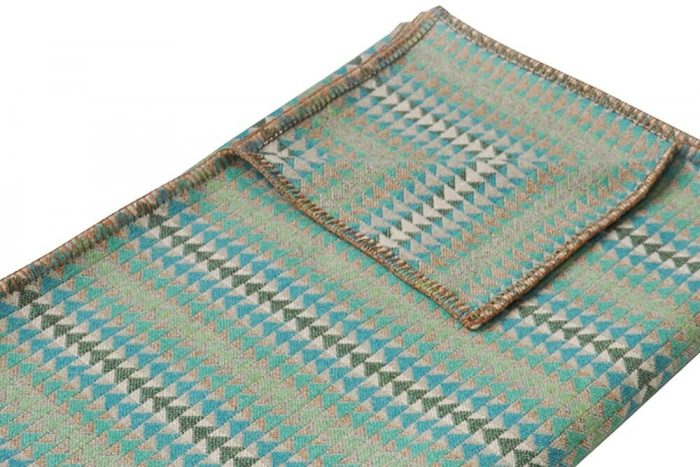Cozy Throw in Bright and Happy Turquoise Detail