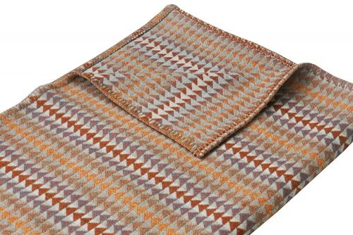 Cozy Throw in Soft and Sweet Plum and Orange Detail