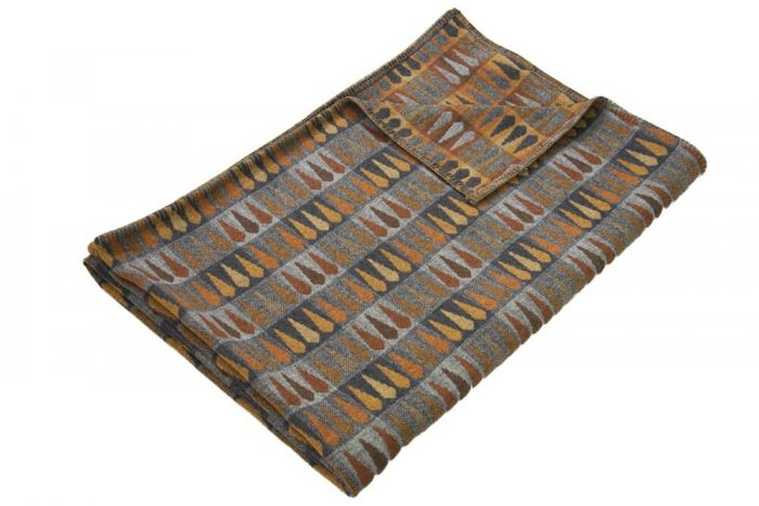 Copper and Gray Throw