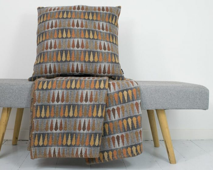 Wool Throw Blanket and Pillow