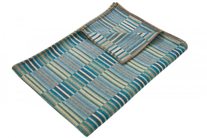 Turquoise Blue Wool Throw Top